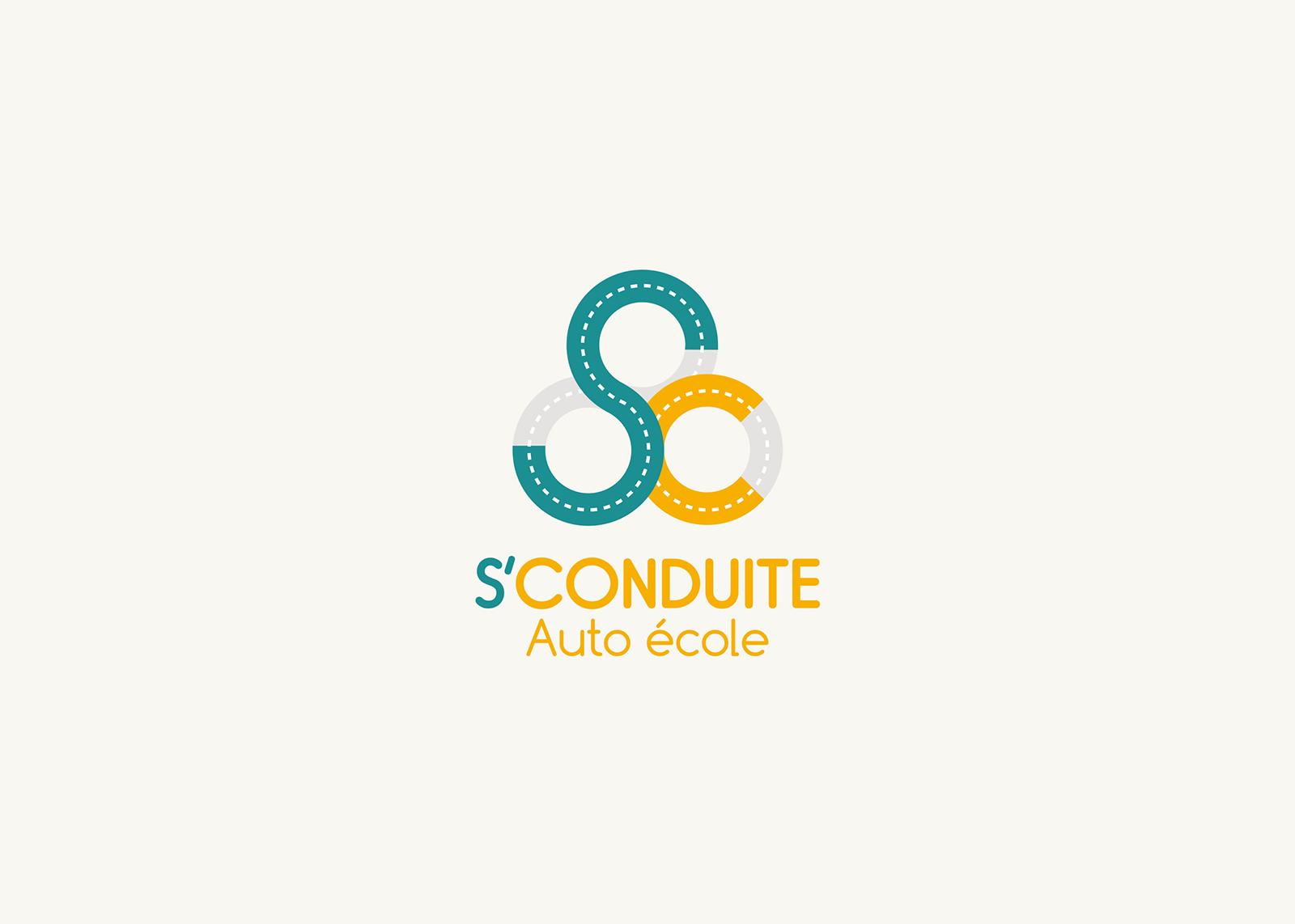S'CONDUITE : Création logo et identité visuelle