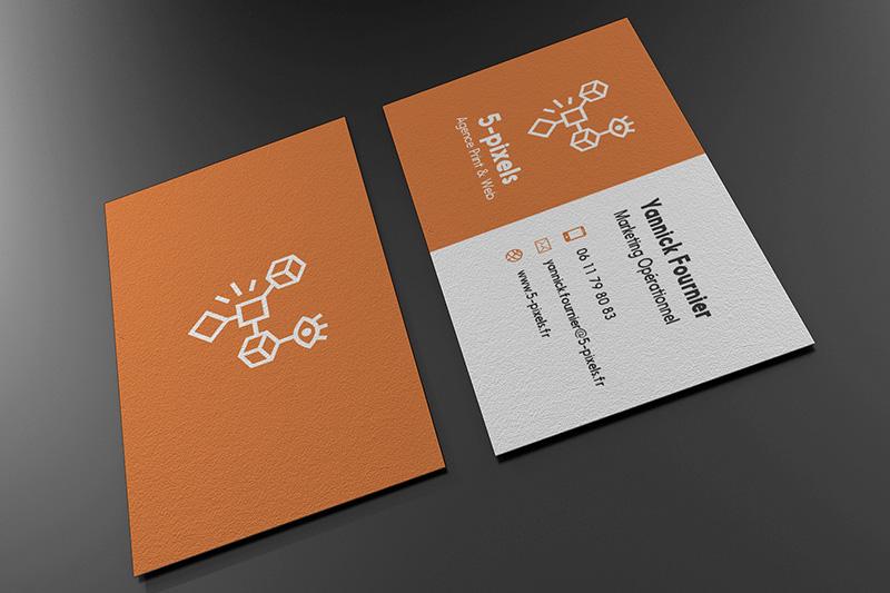 carte visite 5px orange