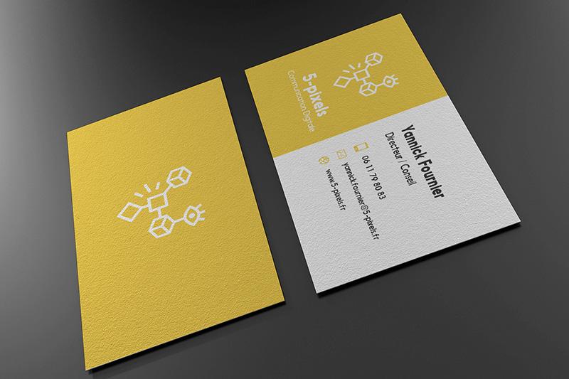 carte visite 5px jaune